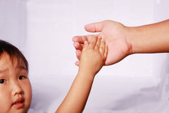hand in hand Stock Photos