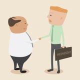 Hand in hand aan een commerciële alliantie op Woensdag royalty-vrije illustratie