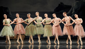 Hand-in-hand ballet girls Royalty Free Stock Image