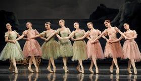 Hand in hand balletmeisjes royalty-vrije stock afbeelding