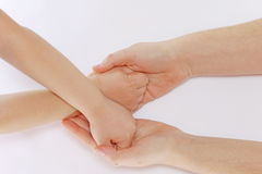 Hand in hand Stock Photography