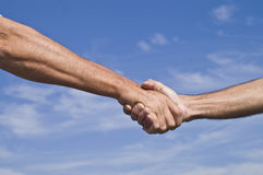 Hand in Hand/one on one Royalty Free Stock Image
