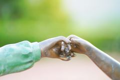 Hand in hand Royalty Free Stock Images