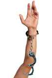 Hand with handcuffs Royalty Free Stock Images
