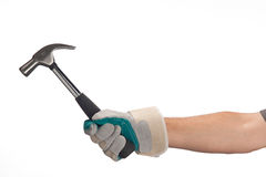 Hand handling an hammer Royalty Free Stock Photos