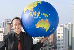 hand hans värld royaltyfri foto