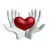 Hand and Heart. This graphic is Hand and Heart Royalty Free Stock Photo