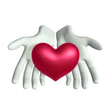 Hand and Heart Royalty Free Stock Photos