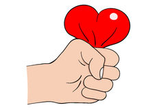 Hand heart Stock Photography