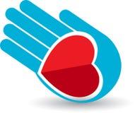 Hand heart stock illustration