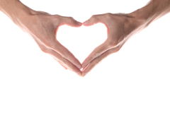 Hand heart Royalty Free Stock Images