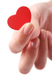Hand and Heart Royalty Free Stock Images