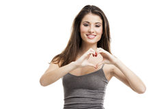 Hand heart Stock Photos
