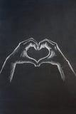 Hand heart Royalty Free Stock Photos
