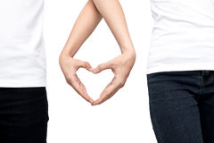 Hand in heart form. Stock Images