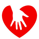 Hand and heart Royalty Free Stock Photography