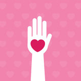 Hand Heart Stock Images