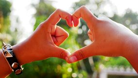 Hand is the heart royalty free stock photography