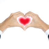 Hand heart shape Stock Image