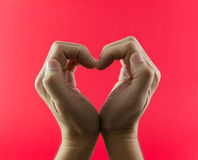 Hand in heart shape Stock Image