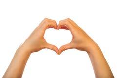 Hand heart symbol Stock Image