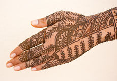 Hand with Heena Royalty Free Stock Photography