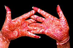 Hand With Heena Design Royalty Free Stock Photos