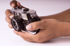 Hand held camera Stock Image