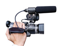 Hand-held camera close-up Royalty Free Stock Images