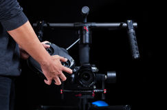 Hand held camera stabilizer Royalty Free Stock Photos