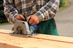 Hand-held electric saw Royalty Free Stock Images