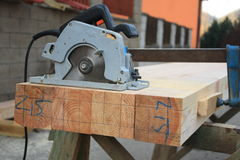 Hand-held electric saw Royalty Free Stock Image