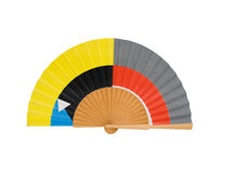 Hand-held fan Royalty Free Stock Photography