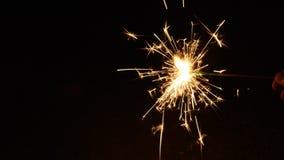 Hand held firework stock footage