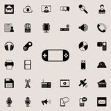Hand-held game console icon. Detailed set of minimalistic icons. Premium graphic design. One of the collection icons for websites,. Web design, mobile app on Royalty Free Stock Photos
