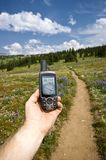 Hand-held GPS Stock Photo