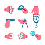 Hand-held measurement tools Royalty Free Stock Images