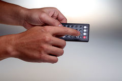 Hand-held remote control Royalty Free Stock Photography