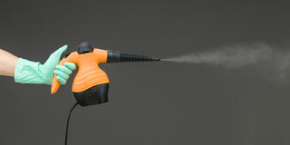 Hand held steam cleaner Stock Photography