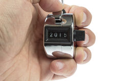 Hand held telly counter 2015 Stock Images