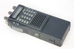 Hand-held Walkie talkie. Small VHF hand-held radio transceover or walkie talkie Stock Photos