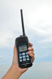 Hand held walkie talkie Stock Image