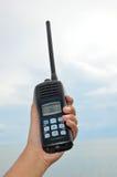Hand held walkie talkie stock image