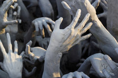 Hand from hell statue Royalty Free Stock Photos