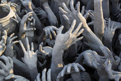 Hand from hell statue Stock Photo