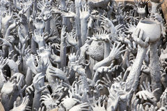 Hand from Hell at Wat Rong Khun Royalty Free Stock Photography