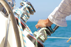 Hand on the Helm Royalty Free Stock Image