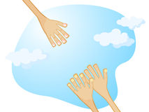Hand of help Royalty Free Stock Image