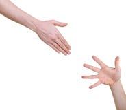 hand help offering Arkivfoton