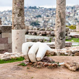 Hand of Hercules in Temple of Hercules in Amman Stock Photos
